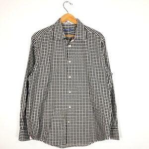 Robert Graham Black Checked ButtonDown Shirt- L/XL